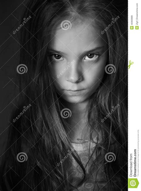 0007232799 black girl white girl royalty free stock images mysterious little girl with