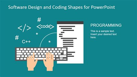 powerpoint design software software design and coding shapes for powerpoint slidemodel