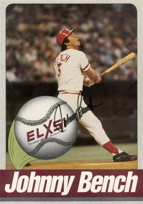 johnny bench career stats hunter s autograph archive