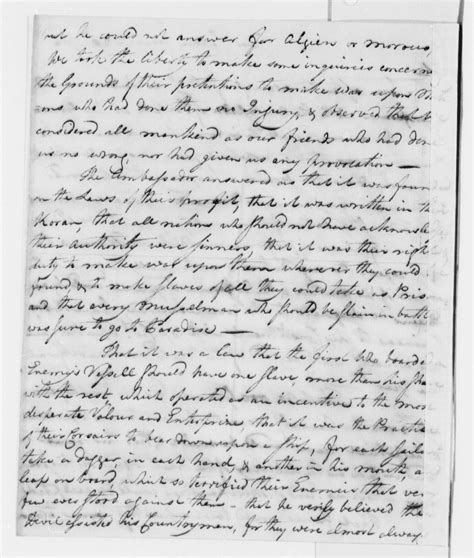 Letter Written File March 18 1786 Letter Written By Jefferson And Describing Their