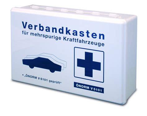Verbandskasten Auto Sterreich auto verbandkasten inkl 214 norm v5101 wei 223 erste hilfe