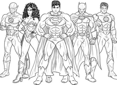 coloring pages of justice league free in justice coloring pages