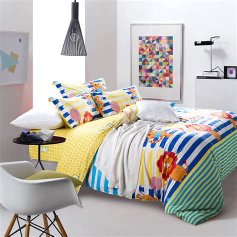 kids bedding set striped comforter sets anime bed sheets