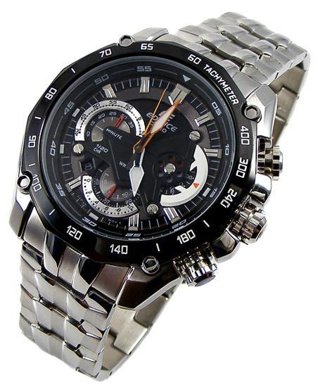 Casio Edifice Ef 550 1avdf Silver Black s watches casio edifice retrograde layered edge 3d shield bull racing chronograph was