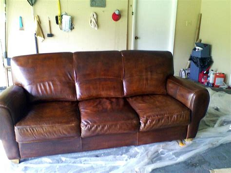 brown leather dye for couch weeds how to dye or stain leather furniture