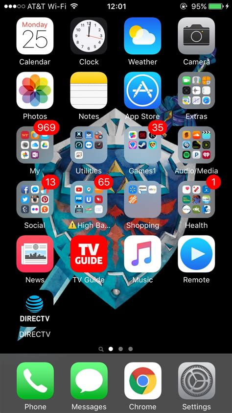 your iphone 6s homescreen