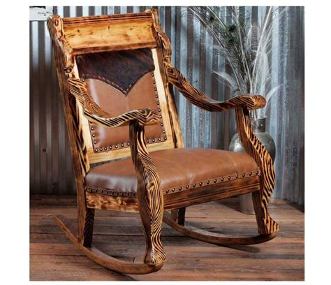 pines rocker   rustic rocking chair chair western furniture