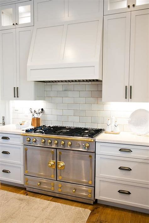 Steel and Brass French Stove   Transitional   Kitchen