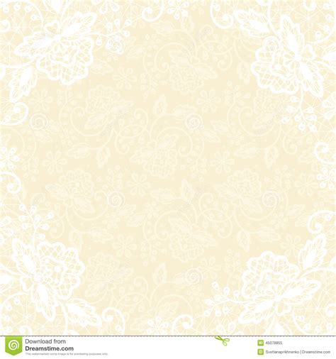 Wedding Invitation Yellow Background by White Lace On Yellow Background Stock Vector Image 45078855