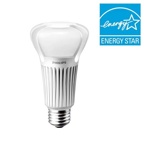 Led Light Bulb Equivalent Philips 40 60 100w Equivalent Soft White 2700k 3 Way A21 Led Light Bulb 453340 The Home Depot