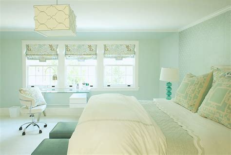 Light Turquoise Bedroom Square Light Pendant Contemporary Bedroom Tutun Interiors