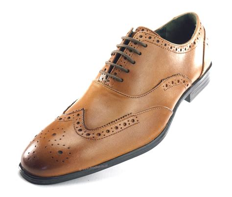 Silver Portman Smart Shoes by Silver Oxford Formal Brogues Lace Up Mens