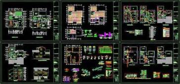 Interior Design And Decoration Pdf Villas Design Full Autocad Dwg Files