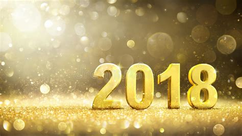 new year 2018 golden week 2018 new year golden greeting card stock image image