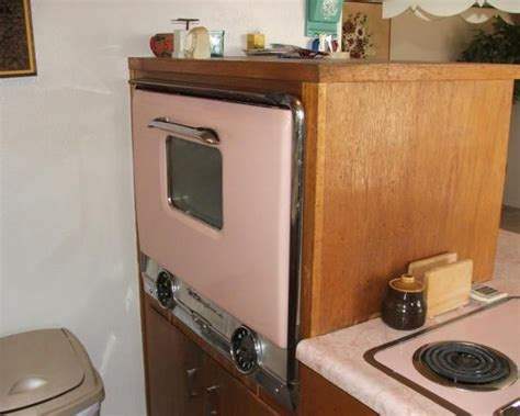 Kitchen Oven Pink original vintage pink paint wall oven kitchen 1960