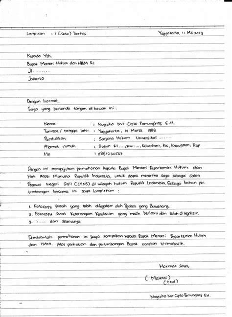 Contoh Lop Lamaran Kerja Tulis Tangan by 30 Contoh Surat Lamaran Kerja Yang Baik Dan Benar Umum