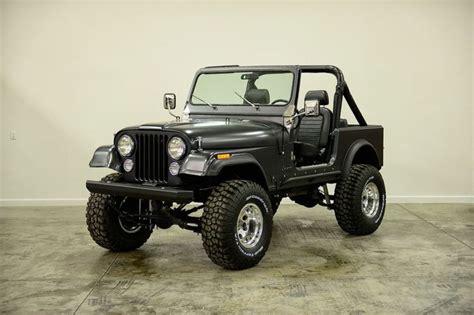 jeep renegade charcoal 1985 cj7 restored fresh paint 4 quot lift matte finish its a