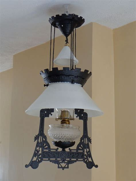 wrought iron hanging ls antique 1870s charles parker cast iron hanging oil l