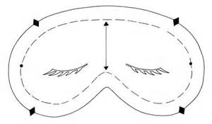 Sleep Mask Template by Sleep Mask Magazine Crafts Institute
