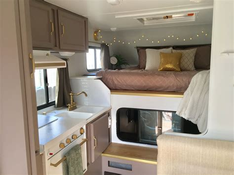 travel trailer remodel 9 truck cer trailer remodel before and after insta sara