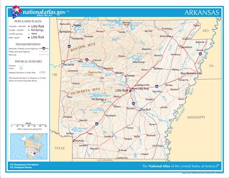 map usa arkansas large detailed map of arkansas state arkansas state large