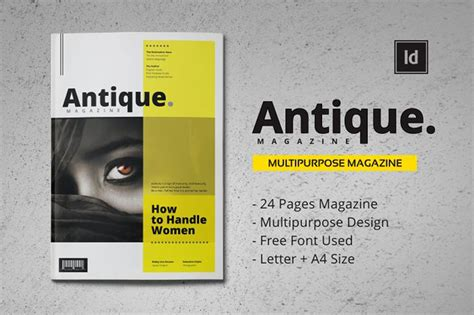 magazine templates for pages antique mgzn template magazine templates on creative market