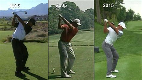 tiger woods swing tiger woods swing analysis 1996 vs 2005 vs 2015 golf