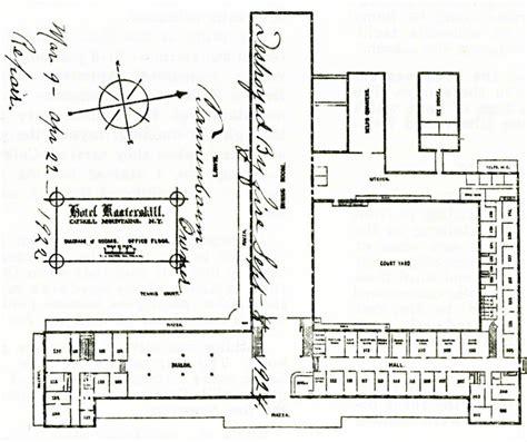 1 Sth Floor by Floor Plan Of The Hotel Kaaterskill Floor