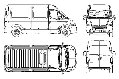 Vans 2d bloques cad autocad arquitectura 2d 3d dwg 3ds library