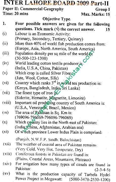 commercial formulary january 2014 list of common commercial geography objective past paper 2009 group 1