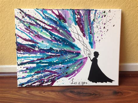 Disney S Frozen Themed Melted Crayon Art | disney s frozen themed melted crayon art