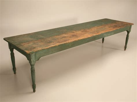 Antique Harvest Table by Antique American Pine 10 Foot Harvest From Oldplank