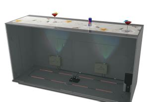 interactive bar top cool lighted bar top easy home bar plans