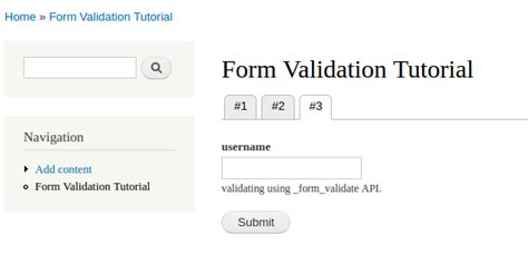 pattern form validation learning about form field validation in drupal 7