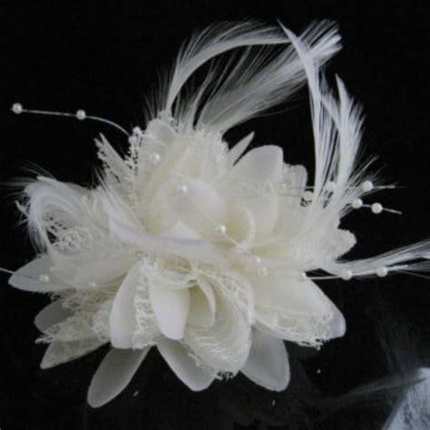 fascinator feather flower cocktail brooch pin hair clip wedding hair women flower feather corsage hair clip fascinator wedding