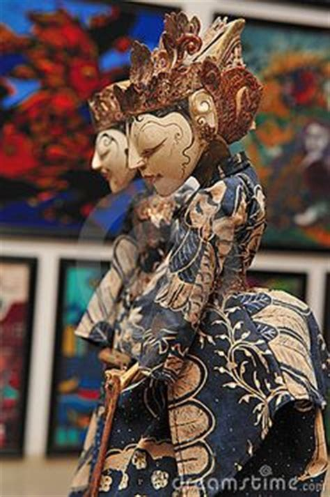 The Shadow Puppet Mantia Biru traditional puppets wayang on