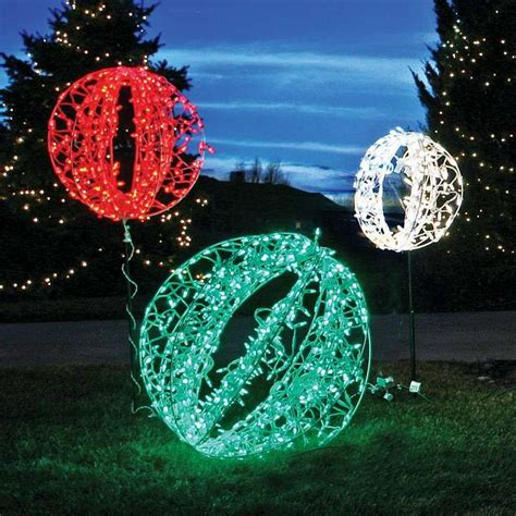 crescent sphere outdoor lights christmas decor pinterest