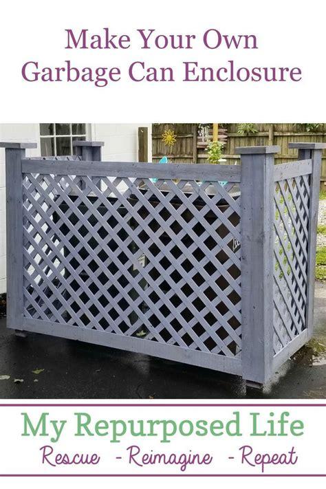 garbage  enclosure outdoor trash cans trash