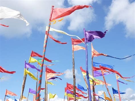 themes hire glastonbury flags everywhere at glasto festival flags and banners