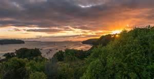Boat Bed Sunrise Over Halfmoon Bay Stewart Island New Zealand