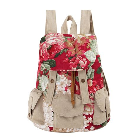 canvas printed backpack ethnic floral print canvas backpack on luulla