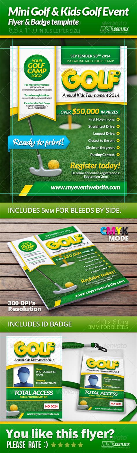 Free Printable Golf Flyer Tournament Template 187 Tinkytyler Org Stock Photos Graphics Mini Flyer Template