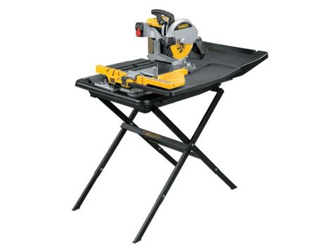 bench tile saw dewalt d24000stand2 240v wet tile saw with slide table and d240001 stand