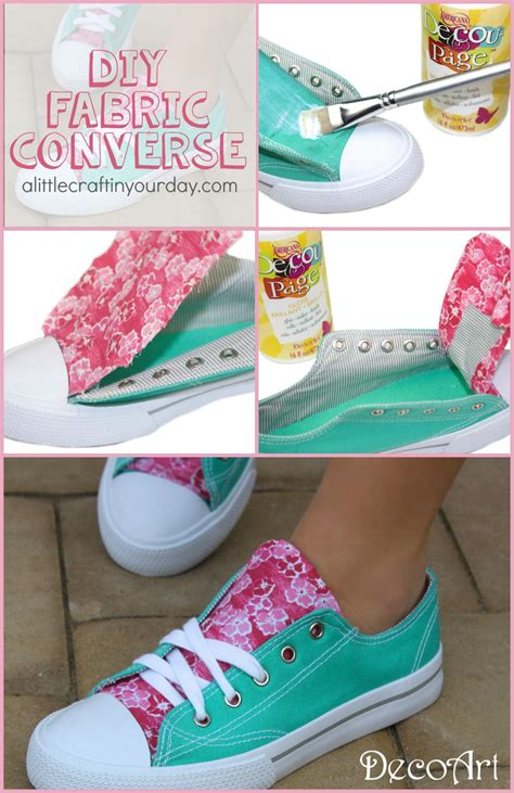 craft fabric diy fabric accent sneakers a craft in your day