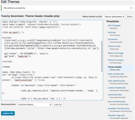 enfold theme google analytics code cara menambahkan google analytics ke wordpress