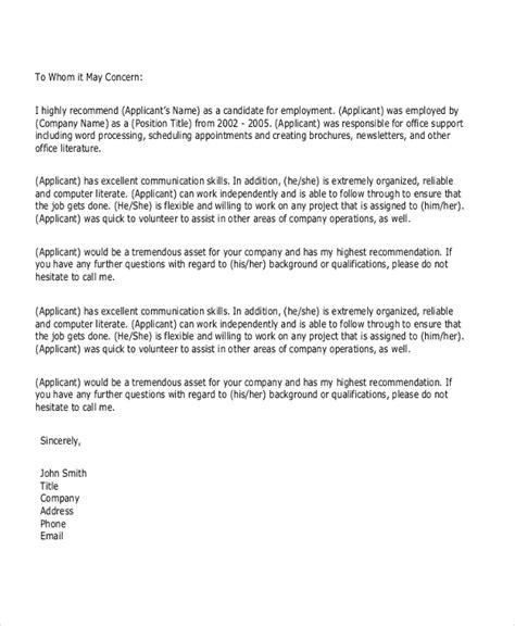 Letter Of Recommendation Communication Skills personal letter of recommendation sle