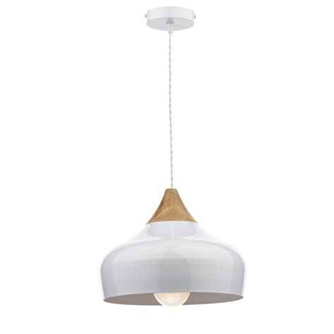 contemporary white wood coloured ceiling pendant