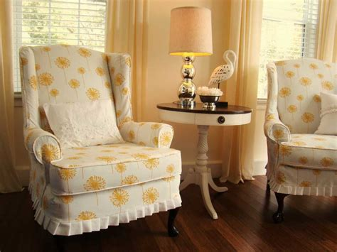 yellow slipcovers get the attractive chairs with slip covers for chairs