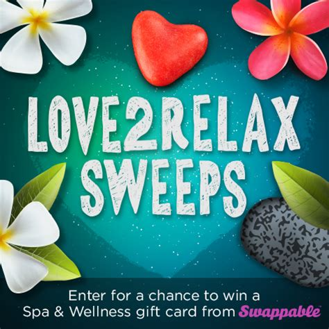 Spa And Wellness Gift Card Promo Code - win a 50 spa wellness gift card for you and a friend from swappable love2relax
