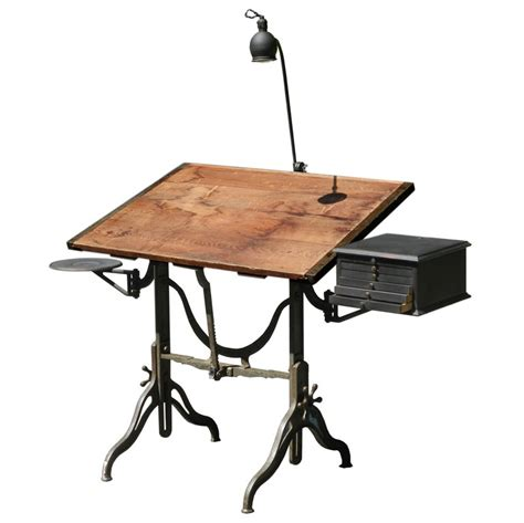 Original Fritz And Goeldel Mechanical Table With All The Mechanical Drafting Tables